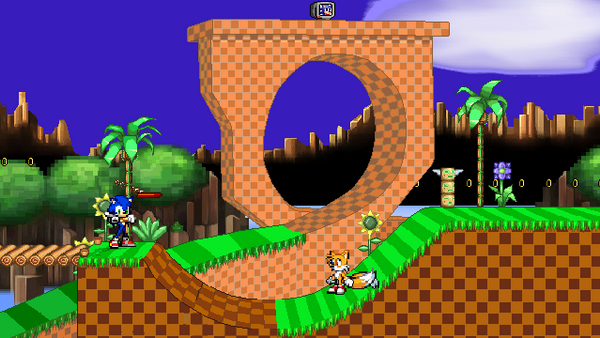 SSF2 SSB4 green hill zone recolor by Scouge9807