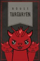 Game of Thrones Targaryen kawaii house banner by jaleh