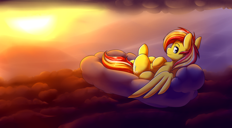 Above the Cloudlayer [Commission] by GrapheneDraws