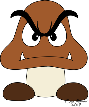 Goomba Stares into your Soul by FieryBirdyThing