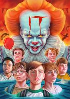 You'll Float Too - 'IT' Movie Poster by NickyBarkla
