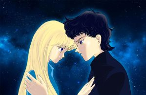 Usagi and Seiya under the stars by katewind