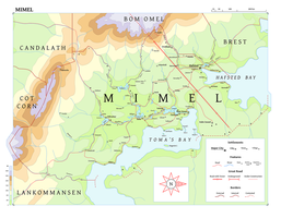 Maps of Ramul Thran #1 - The Marshes of Mimel by kerog6