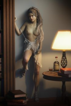 Waiting With My Whiskey Poured #2 by Renderfem