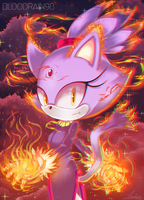AT: Blaze the Cat by BloodRain98