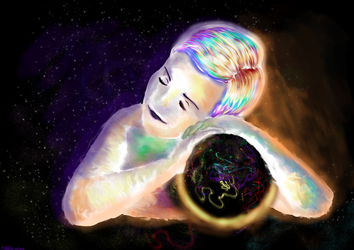 Holding the Universe. by MiffArte