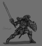 Captain N :Re- Darknut sketch by WMDiscovery93