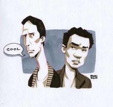 Troy and  Abed by ActionHankBeard