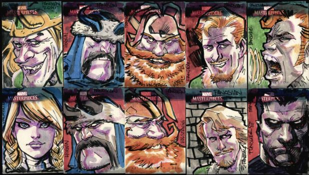 Marvel Sketch Cards v2 by urban-barbarian