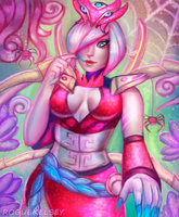 Blood Moon Elise (Speedpaint) by ROGUEKELSEY