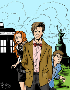Team TARDIS colored by recycledcans