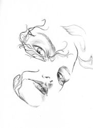 lines of a face by Monaku