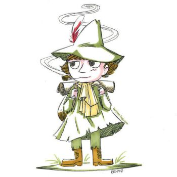 Snufkin Sketch Request by keh-arts