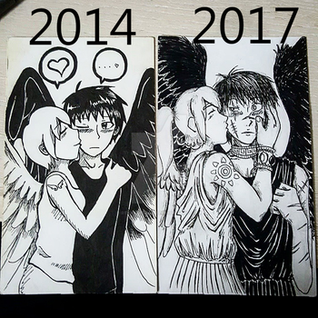 improvement meme - angel's kiss by ReverseImaku