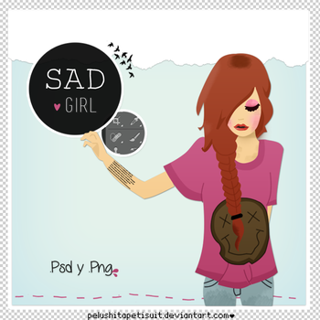 Sad girl by PelushitaPetisuit