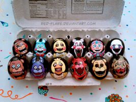 Five Nights at Freddy's Eggs by Red-Flare