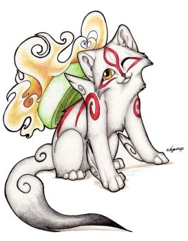 Okami puppy by Lyanti