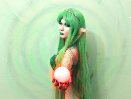 Elf with Fireball by Muse1703
