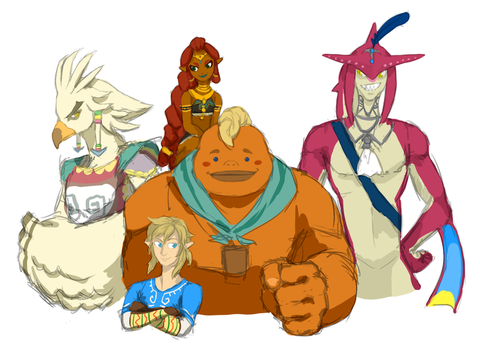 loz: botw - link and friends by Miphica