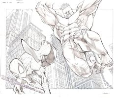 Spidey vs Hulk 2 and 3 by jusdog
