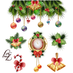 Christmas clock and tree toys decoration by Lyotta