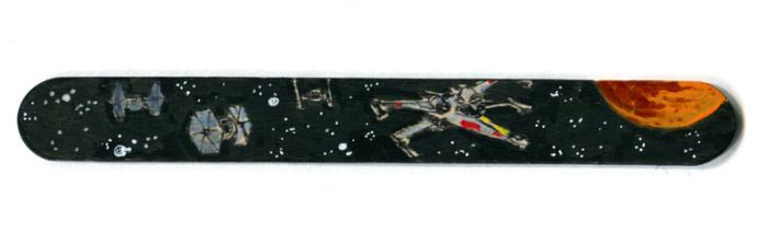 Star Wars X-wing space chase by littlereddog