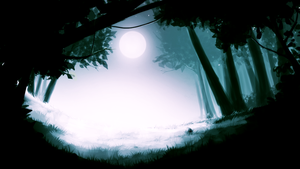 Forest and Moon by Renmiou