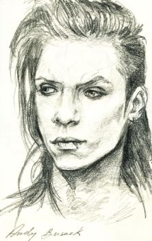 Andy Biersack quick portrait by Karolina5n