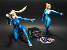 Samus Aran papercrafts (size comparizon) by BRSpidey