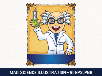 Free Mad Science Illustration by pixaroma