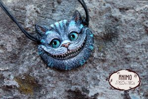Pendant - Cheshire Cat head by VivianaDark