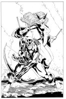 Mr and Mrs Hawkeye inks by MarkStegbauer