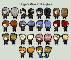 Organization XIII keybies by silverei