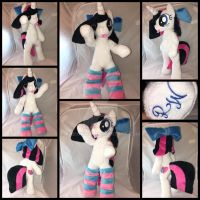 MLP 16in Anthro/Biped OC 'Heart Stitches' Plushie by RubioWolf