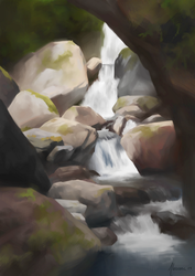 Entrance of Nippara Caves - Landscape Study by Aliciane