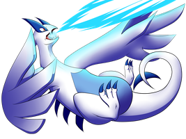 Lugia Uses Aeroblast! by fireangel21