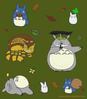 Totoro Sticker Sheet by PhantomStarStudio