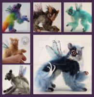Custom Fairy Spirit Dragon Fledgling Dolls by M-J-Albert
