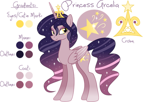 Princess Arcelia Reference Sheet by pixiepea