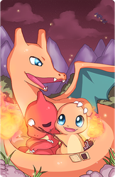 Pokefamily Vacation : Charmander by DarienDoodles