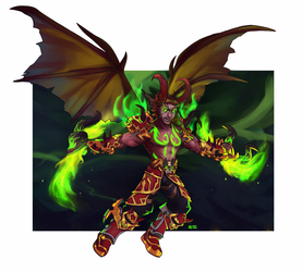 Blood elf demon hunter (commission) by give-me-your-love