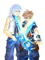KH2_Riku and Sora by egosun