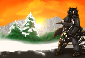 Ride Along The Sunset by CorruptTempest