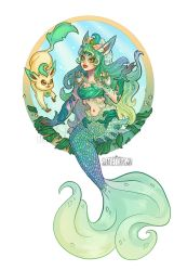 Leafeon Mermaid by Flying-Fox