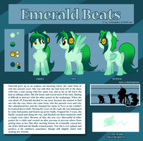 Emerald Beats Reference Sheet By Arcadian Phoenix by F0XBLAZE