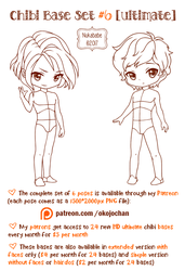 Chibi Pose Reference (Ultimate Chibi Base Set #6) by Nukababe