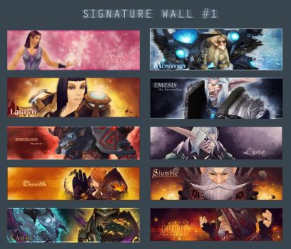 Signature wall 1 by Shukria