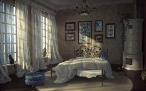Bedroom With Insects by AnekaShu