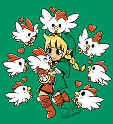 Linkle Queen of Cuccos shirt design by SarahRichford