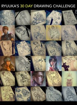 Ryuuka's 30 Day Drawing Challenge by Dopaprime